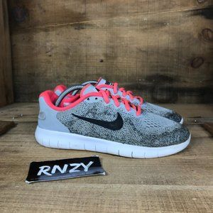 Nike Free Rn 2017 Gray Pink Athletic Sport Shoes